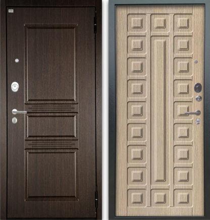 Сейф-дверь Аргус Люкс АС 2П Сабина Венге/Сенатор Капучино
