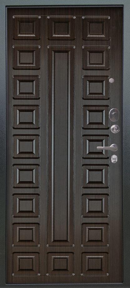 Стальная сейф-дверь Аргус Люкс АС 2П Сабина Венге/Сенатор Венге тисненый