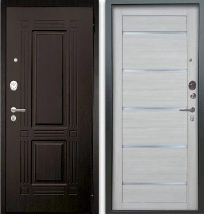 Белая дверь со стеклом Аргус Люкс АС 2П ТРИУМФ ВЕНГЕ/АЛЕКСАНДРА БУКСУС