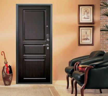 Входная дверь Аргус Люкс АС 2П Триумф Венге/Сабина Венге тисненый