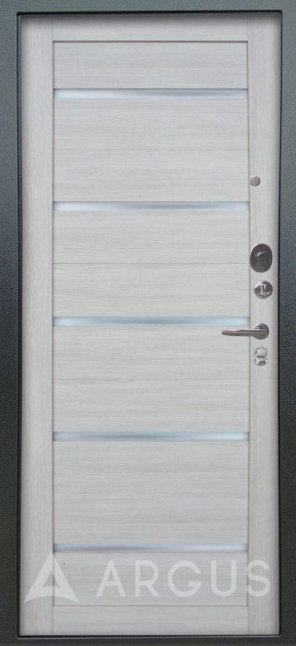 Купить железную дверь со стеклом Аргус Люкс 3К Серебро антик Александра Буксус