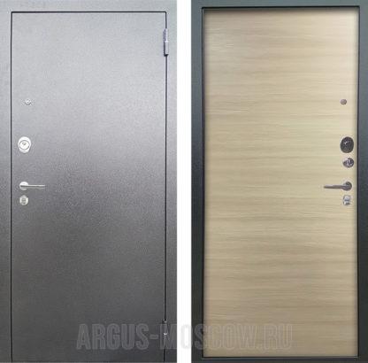 Входная дверь Аргус Люкс АС Серебро антик Элегант Дорс светлый