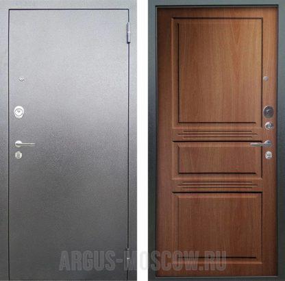 Заказать металлическую сейф-дверь Аргус Люкс АС Серебро антик Сабина Дуб золотой