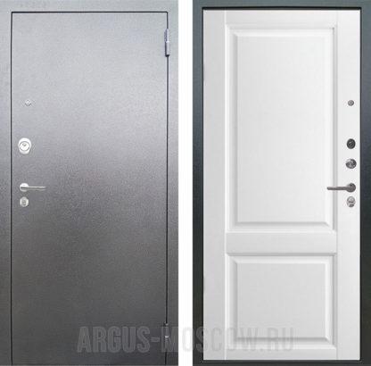 Стальная входная дверь Аргус Люкс АС Соренто Белая эмаль