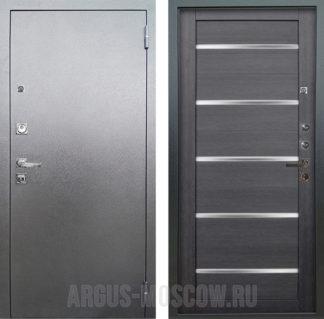 Стальная дверь со стеклом Аргус Люкс ПРО 3К Серебро антик АЛЕКСАНДРА ЛУННАЯ НОЧЬ