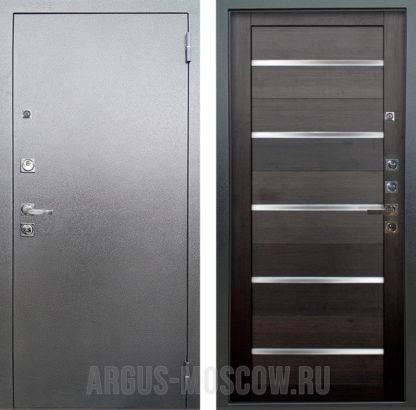 Стальная входная дверь со стеклом Аргус Люкс ПРО 3К Серебро антик АЛЕКСАНДРА ВЕЛЬВЕТ