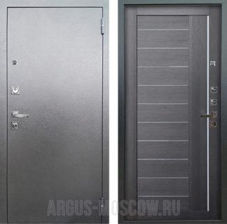 Входная металлическая дверь со стеклом и молдингами Аргус Люкс ПРО 3К Серебро антик ДИАНА ЛУННАЯ НОЧЬ