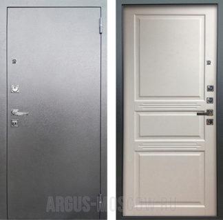 Железная входная дверь Аргус Люкс ПРО 3К Серебро антик Джулия Эмаль Белый жемчуг