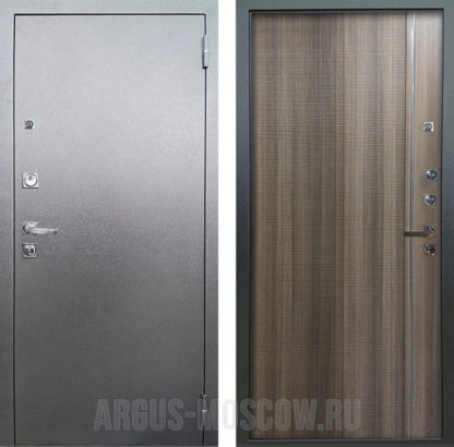 Стальная сейф-дверь с 3D структурой и молдингами Аргус Люкс ПРО 3К Серебро антик Гауда Керамика