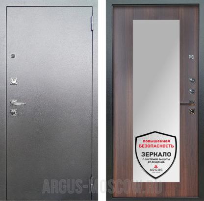 Сейф дверь с зеркалом Аргус Люкс ПРО 3К Серебро антик Милли Коньяк Калифорния