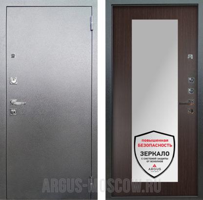 Дверь входная с зеркалом Аргус Люкс ПРО 3К Серебро антик МИЛЛИ ВЕНГЕ