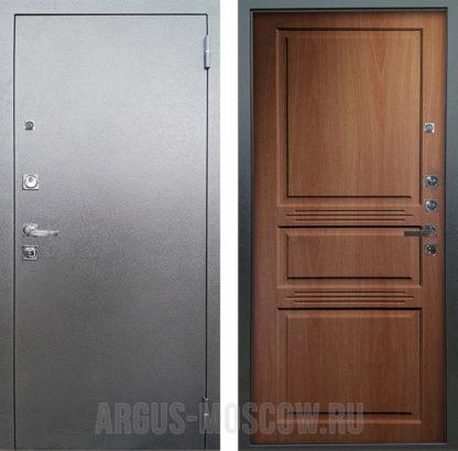 Стальная дверь Аргус Люкс ПРО 3К Серебро антик Сабина Дуб золотой