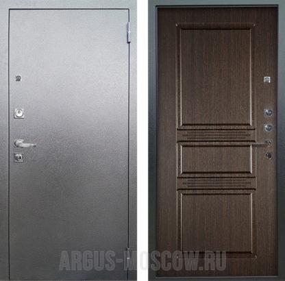 Металлическая дверь Аргус Люкс ПРО 3К Серебро антик САБИНА ВЕНГЕ ТИСНЕНЫЙ