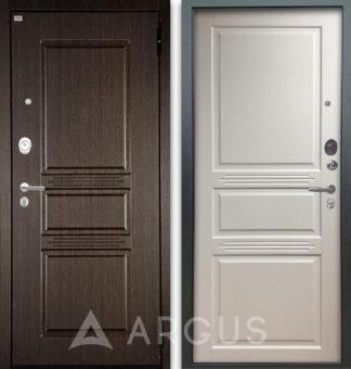 Купить входную белую дверь Аргус Люкс АС 2П Сабина Венге/Джулия-2 Эмаль Белый жемчуг