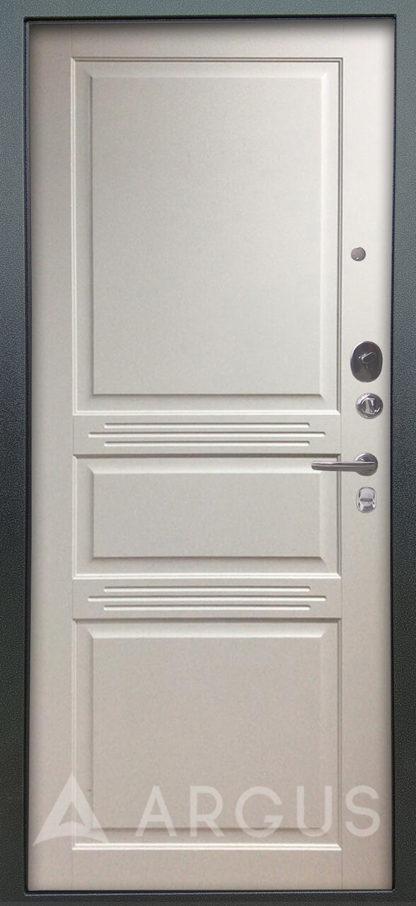 Железная дверь Аргус Серебро антик Джулия-2 Эмаль Белый жемчуг