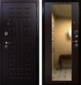 Стальная дверь для квартиры с зеркалом Воевода Оплот-2