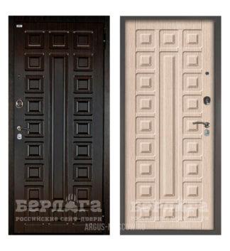 Купить входную дверь Берлога Оптима 2П Сенатор Венге/Сенатор Ларче светлый