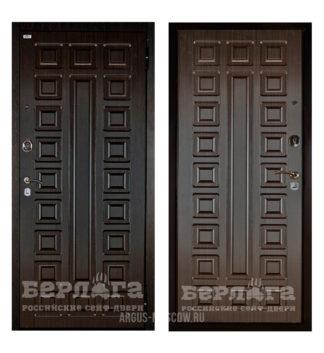 Стальная входная дверь Берлога Оптима 2П СЕНАТОР Венге/СЕНАТОР Венге