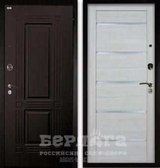 Входная железная дверь со стеклом Берлога Оптима 2П ТРИУМФ Венге тисненый/АЛЕКСАНДРА Буксус