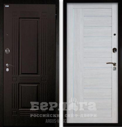 Сейф-дверь со стеклом и молдингами Берлога Оптима 2П ТРИУМФ Венге тисненый/ДИАНА Буксус
