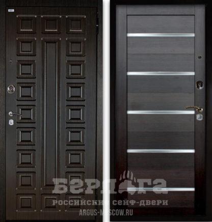 Сейф-дверь со стеклянными вставками Берлога Оптима 2П СЕНАТОР Венге/АЛЕКСАНДРА Вельвет