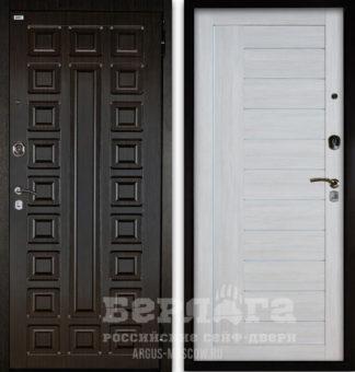 Заказать входную дверь со стеклом и молдингами Берлога Оптима 2П СЕНАТОР Венге/ДИАНА Буксус