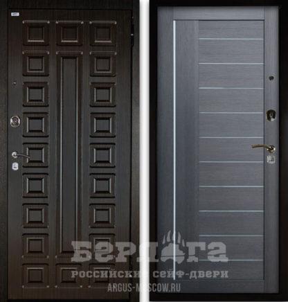 Купить сейф-дверь со стеклом и молдингами Берлога Оптима 2П СЕНАТОР Венге/ДИАНА Лунная ночь