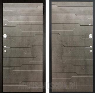 Купить в Москве входную сейф дверь Аргус Люкс ПРО 2П Черный шелк Техно Темный Бетон/Техно Темный Бетон