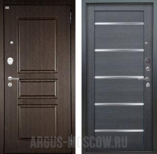 Купить железную дверь со стеклом Аргус Люкс ПРО 3К 2П Серебро антик Сабина Венге/Александра Лунная ночь