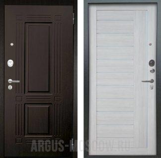 Сейф дверь со стеклом и молдингами Аргус Люкс ПРО 3К 2П Серебро антик Триумф Венге/Диана Буксус