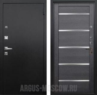 Стальная сейф дверь со стеклом Аргус Люкс ПРО 3К Черный шелк Александра Лунная ночь