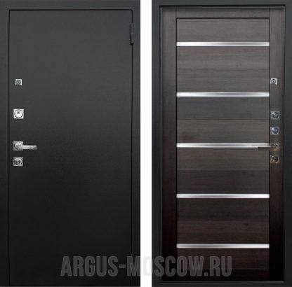 Железная дверь со стеклом Аргус Люкс ПРО 3К Черный шелк Александра Вельвет