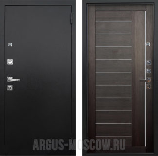 Стальная входная дверь с молдингами Аргус Люкс ПРО 3К Черный шелк Диана Вельвет