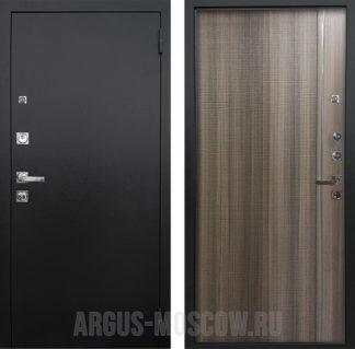 Стальная дверь с молдингами Аргус Люкс ПРО 3К Черный шелк Гауда Керамика