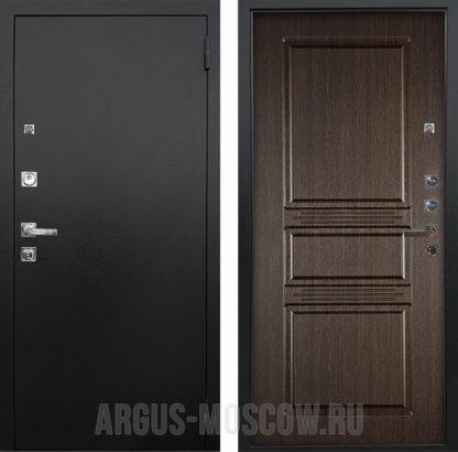 Входная дверь Аргус Люкс ПРО 3К Черный шелк Сабина Венге