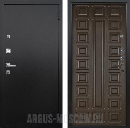 Металлическая дверь Аргус Люкс ПРО 3К Черный шелк Сенатор Венге