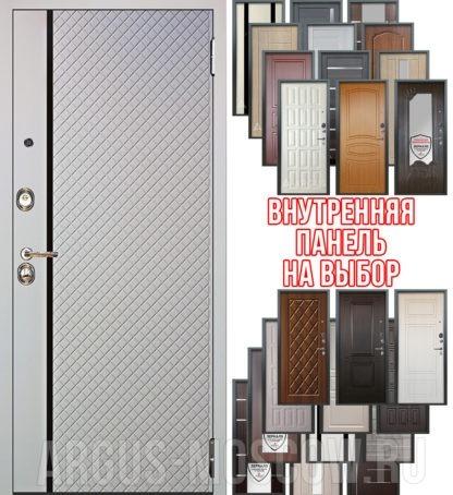 Входная сейф дверь Аргус Люкс 3К 2П Рина Белый софт