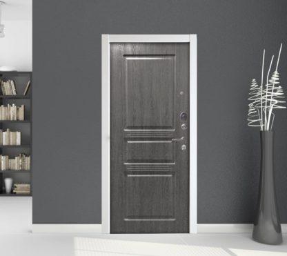Входная сейф дверь Аргус Люкс АС Серебро антик Сабина Дуб Филадельфия графит