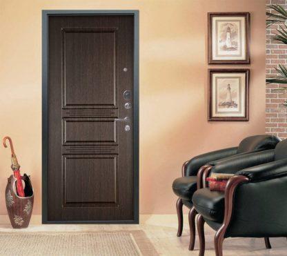 Заказать стальную входную дверь Аргус Люкс АС Серебро антик Сабина Венге тисненый