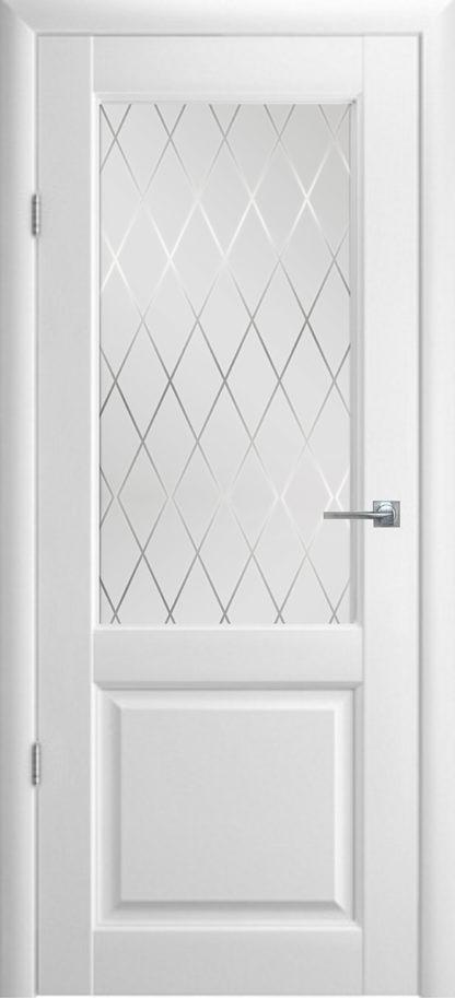Межкомнатная дверь со стеклом Александровские двери Соренто Эмаль белая