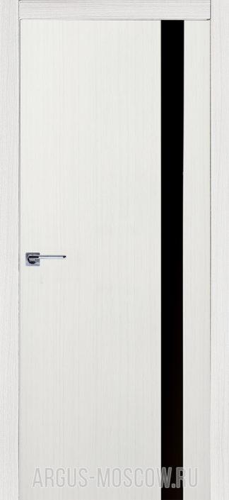 Межкомнатные Александровские двери с черным стеклом Стиль 1 Белое дерево от официального представителя