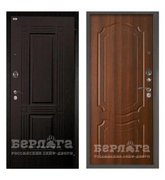 Входная сейф-дверь Берлога Оптима 2П Триумф Венге/Мишель Дуб рустикальный