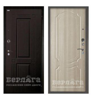 Входная сейф-дверь Берлога Оптима 2П Триумф Венге/Мишель Ларче светлый