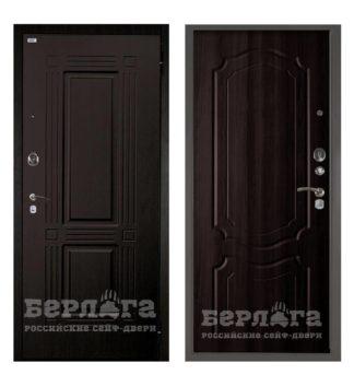 Входная сейф-дверь Берлога Оптима 2П Триумф Венге/Мишель Венге тисненый