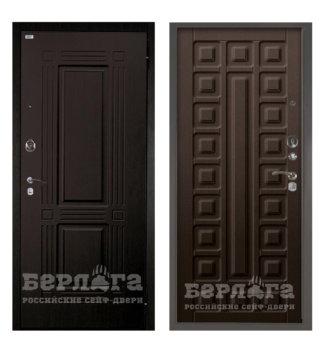 Сейф-дверь Берлога Оптима 2П ТРИУМФ Венге тисненый/СЕНАТОР Венге