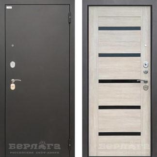 Металлическая дверь со стеклом Берлога Тринити Луиджи в Москве